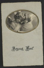 MB3032 FAMOUS MYSTERY MODEL GRETE REINWALD  XMAS ANGEL WITH LITTLE SISTER RPPC