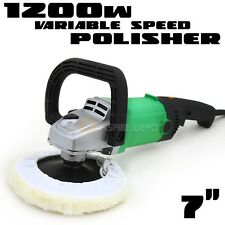 "7"" Electric Polisher Detailing Buffer Sander W/ Pad Car Boat Paint Variable HD"