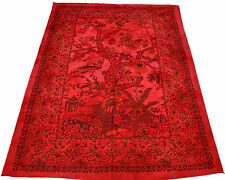 Red 'Tree Of Life' Wall Hanging Tapestry Cotton BedSpread Indian Hippie Decor