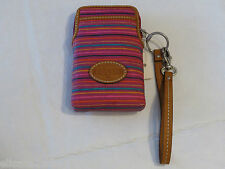 Fossil SL4120875 Keyper Carryall Colorful Stripes Wristlet iPhone Galaxy NWT*^