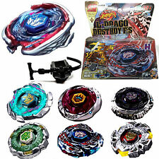 Fusion Top Rapidity Fight Metal 4D Master Beyblade Launcher Grip Set Collection