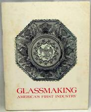 CORNING GLASS MUSEUM SOUVENIR BROCHURE GLASSMAKING AMERICA'S 1st INDUSTRY 1976
