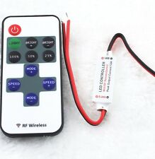 12V PMW RF Wireless Remote Switch Controller Mini Dimmer For LED Strip Light New