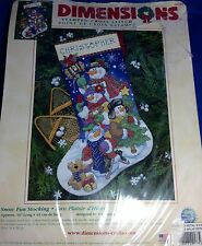 Dimensions Stocking Snow Fun Men stamped cross-stitch kit 8684 Todd Trainer