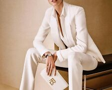 White Women Ladies Custom Made Formal Business Office Tuxedos Work Wear Suits