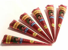 Buy 1 Get 1 Free! Henna Mehndi Tattoo Pen FREEPOST & BOGOF! Natural Red/Brown tq