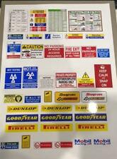 1/18 diorama garage safety signs  (sheet0005)