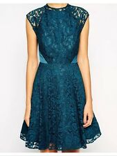 Bnwt��Coast��14 (Uk)  Laura Teal Lace Dress Evening Party Cocktail Wedding New
