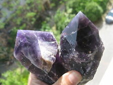 591g (1.3lb) NATURAL AMETHYST QUARTZ CRYSTAL  POINT HEALING    2  A829