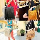 Fashion Celebrity Tassel Fringe Women Tote Handbag Shoulder Cross Body Hobo Bag