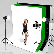 Studio White Screen Chromakey Backdrop 1.5 x 3 m Muslin Video Photo Background