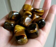 Beautiful 1/4 Lb Tumbled Golden Tiger Eye Nuggets Gemstone, Healing, Balancing