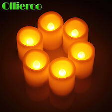 Ollieroo New 6 PCS Flameless LED Candle Votive Christmas Candles Led Light