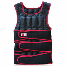 WEIGHTED JACKET 30KG WEIGHT TRAINING BODY EXERCISE VEST-ADJUSTABLE HEAVY DUTY