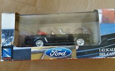 1/43 SCALE 1964 FORD MUSTANG CONVERTIBLE BLACK NEW-RAY DIECAST CAR-NIB!