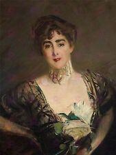 Dipinto ritratto BOLDINI Josefina de Alvear Errazuriz GRANDE STAMPA POSTER lf1596