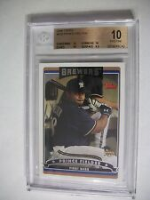 PRINCE FIELDER 2006 Topps #639 BGS PRISTINE 10 RC Brewers,Tigers,Rangers 1/1
