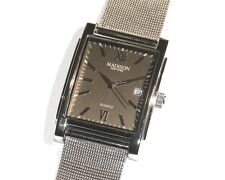 MADISON New York - Herrenuhr mit Meshband, Metall, Datum - Schick + Edel - Neu