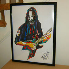 Mick Thomson: Slipknot: Guitar Player: Heavy Metal: Death Metal: POSTER with COA