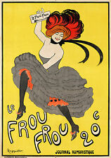 french Le Frou Frou yellow vintage poster A1 SIZE PRINT FOR YOUR FRAME