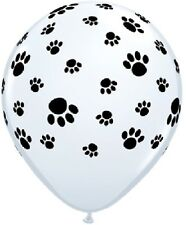 """PAW PRINT (25) 11"""" Dog Cat Any Occasion Birthday Party Qualatex Latex Balloons"""