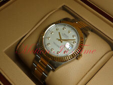 Rolex Oyster Perpetual Datejust II 41mm Two-Tone Ivory Diamond Dial 116333