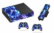 Blue Electric Sticker/Skin xbox one Console,Kinect & Remote controllers, x1sk15