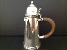 Britannia Standard Crichton Chocolate Coffee Pot Antique English Sterling Silver