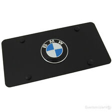 Genuine BMW Stainless Steel Marque License Plate BMW Logo- BLACK 82121470313