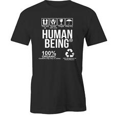 Human Being Care Instructions T-Shirt Funny Tee New