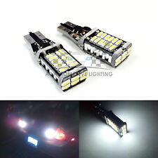 2x T15 6000K White CANBUS LED Back Up Reverse Bulbs 921 Wedge 30-SMD 4014 1500LM