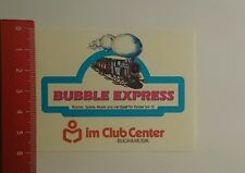 ADESIVI/Sticker: BUBBLE Express al club Center libro musica & (090916154)