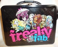 Monster High collectible carry-all tote trinket case lunch Tin Box Fab