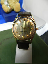 1959 Longines Triumph Model 14k. Gold watch Grand Prix Automatics Vintage