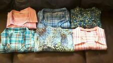 Womens lot of 6 2X patterned spring summer lightweight button down shirts tops