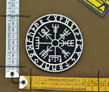 "Ricamata / Embroidered Patch ""Vegvisir Viking Comp"" Blk with VELCRO® brand hook"
