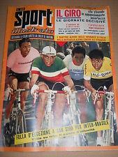 SPORT ILLUSTRATO 1958 n. 23 - giro d'Italia, poster Baldini, posterino Reggiana