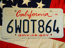 CALIFORNIA license licence plate plates USA NUMBER AMERICAN REGISTRATION
