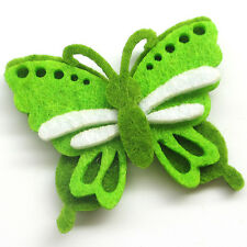 24/120pcs Padded Felt Colorful Butterfly Appliques Wedding Craft Mix Lots