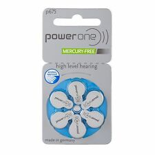 120 x Varta POWER ONE Batterie Apparecchi Acustici PowerOne p675 20 BLISTER pr44