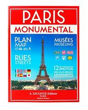 Paris Monument/Street Map - 2-sided Map - A Monument Map & a Detailed Street Map