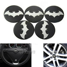 5x 65mm Dark Knight Batman Car Tyre Rim Center Hub Cap Steering Wheel Decal Hat