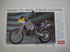 advertising Pubblicità 1990 MOTO APRILIA PEGASO 125