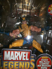 MARVEL LEGENDS SERIES 3 III YELLOW WOLVERINE FIGURE W/GOLD WOLVERINE MINI POSTER