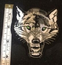 Lone Wolf Embroidered Iron On/Sew On Back Patch Biker Heavy Metal Badge