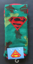 MENS SUPERMAN GREEN CAMO 1 PAIR SOCKS (SHOE SIZE 6-12)