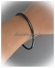 Origninal- Bracelet Jonc -Pure Céramique de couleur Noire- Bijoux Femme