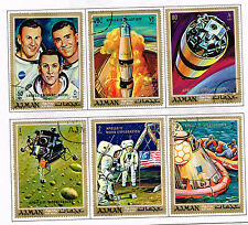 Ajman US Space Apollo 12 Moon Explorer set 1970