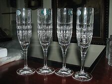 """Set of (4) RALPH LAUREN """"Cocktail Party"""" Crystal Champagne/ Wine Glasses/ Flutes"""