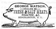 FRENCH FURNITURE DECAL DIY SHABBY CHIC IMAGE TRANSFER VINTAGE LABEL PIG MEAT